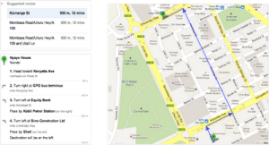 Walking Directions from Google Africa